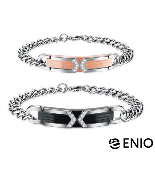 Двойные браслеты для влюбленных NL-6075-4T фото