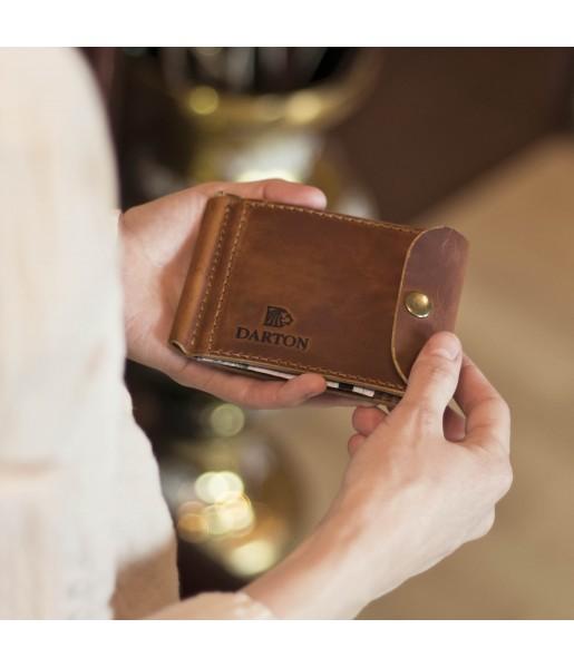Зажим для денег DARTON CLIP Cognac фото 1