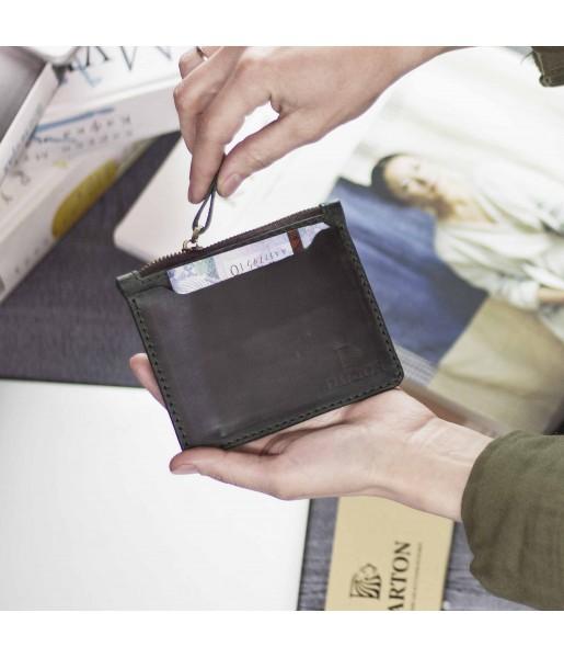 Ультратонкий мужской кошелек DARTON SLIM Deep Green фото 1