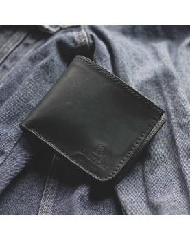 Мужской кожаный бумажник DARTON MR. BIFOLD Navy фото 5