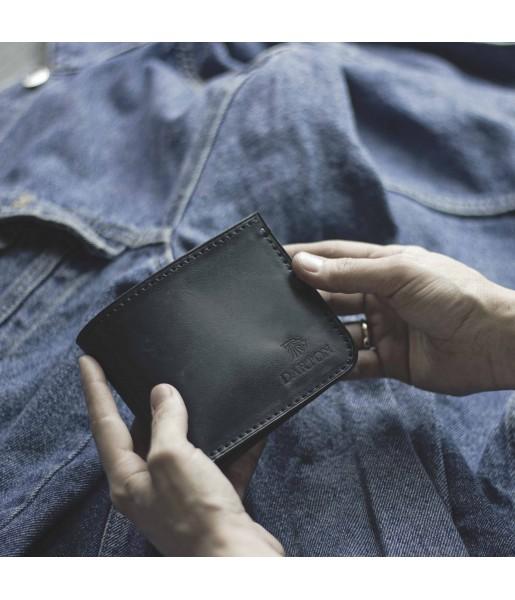Мужской кожаный бумажник DARTON MR. BIFOLD Navy фото 1