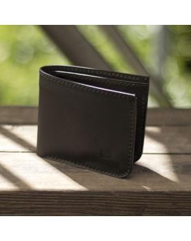 Мужской кожаный бумажник DARTON MR. BIFOLD Black Onyx фото 3