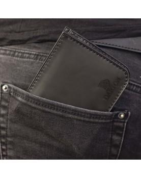 Мужской кожаный бумажник DARTON MR. BIFOLD Black Onyx фото 4