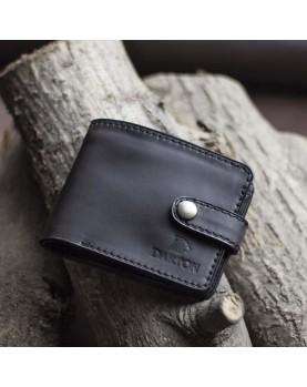Мужское портмоне на кнопке из мягкой кожи DARTON PAUL Black Onyx фото 1