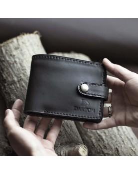 Мужское портмоне на кнопке из мягкой кожи DARTON PAUL Black Onyx фото 4
