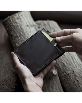 Мужское портмоне на кнопке из мягкой кожи DARTON PAUL Black Onyx фото 3