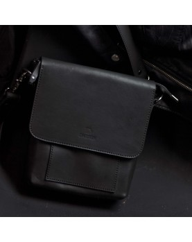 Мужская сумка планшет на ремне из кожи DARTON ALFRED Black Onyx фото 3