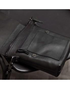 Мужская сумка планшет на ремне из кожи DARTON ALFRED Black Onyx фото 2