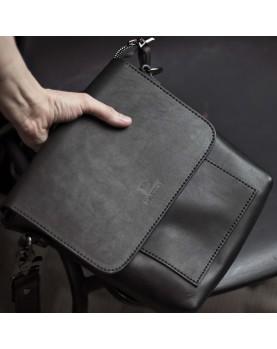 Мужская сумка планшет на ремне из кожи DARTON ALFRED Black Onyx фото 1