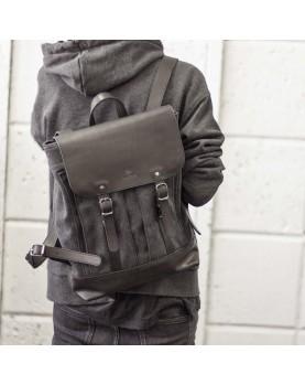 Мужской кожаный рюкзак DARTON  Western Black Onyx фото 2