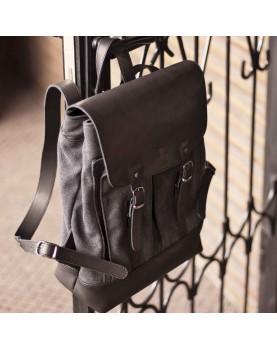 Мужской кожаный рюкзак DARTON  Western Black Onyx фото 3