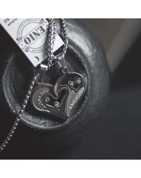 Кулоны Половинки Сердца для влюбленных Spikes NL-1801-ST  фото 3
