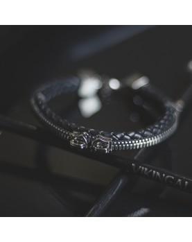 Мужской Кожаный браслет с молнией MAN POWER Fashionable BSS353 фото 4