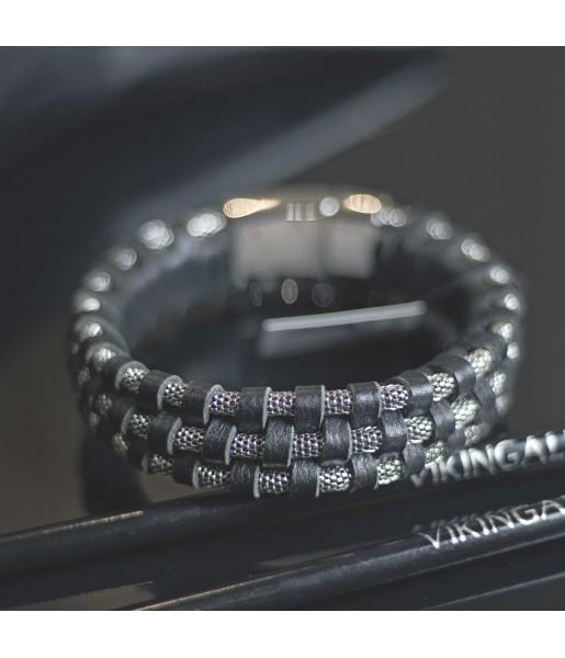 Плетеный кожаный браслет MR.SMITH MS-3205-BLS фото 3
