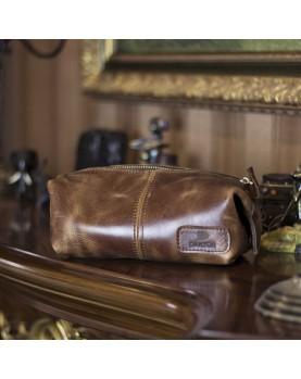 Мужская дорожная косметичка DARTON BRO Cognac фото 1