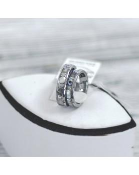 Перламутровые Парные кольца из вольфрама Spikes R-TU-7014 Фото 1
