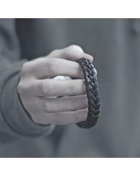 Плетеный кожаный браслет MR.SMITH MS-3206-BRN фото 3