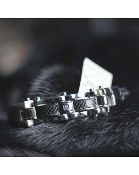 Плетеный кожаный браслет MR.SMITH MS-3213-BLS Фото 1