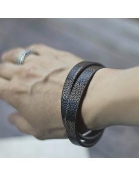 Коричневый кожаный браслет MR.SMITH MS-7039-BLS Фото1