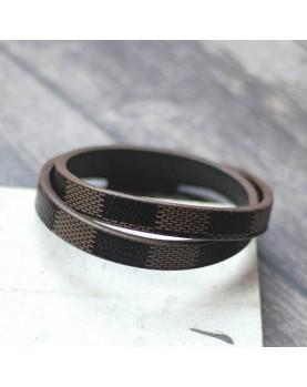 Коричневый кожаный браслет MR.SMITH MS-7039-BLS Фото 2