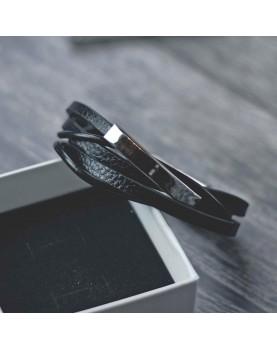 Мужской Кожаный браслет для гравировки MR.SMITH MS-7037-BLS Фото 2