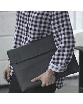 Кожаная Папка для бумаг и ноутбука DARTON BUSINESS Black фото 4