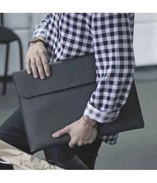 Кожаная Папка для бумаг и ноутбука DARTON BUSINESS Black фото 1