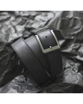 Мужской кожаный ремень для брюк DARTON STATUS 3,5 см Black Carbon 120 см Фото 1