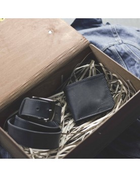 Мужской Набор Ремень и Портмоне CLASSIC Black Carbon Фото 2