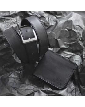 Мужской Набор Ремень и Портмоне CLASSIC Black Carbon Фото 3