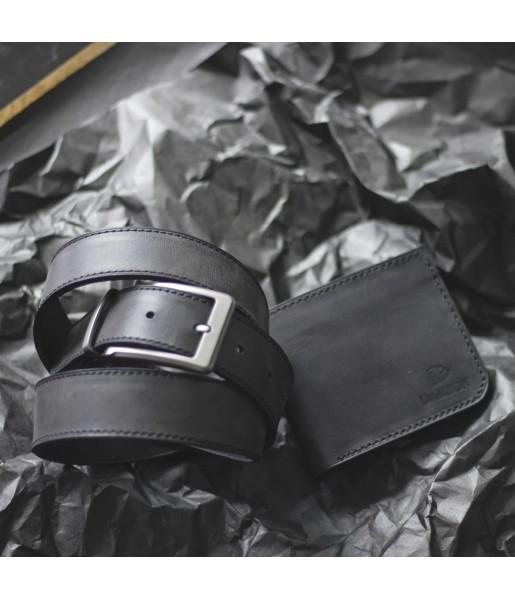 Мужской Набор Ремень и Портмоне CLASSIC Black Carbon Фото 1