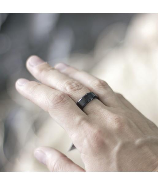 Черное Вольфрамовое кольцо Spikes R-TU-7024 Фото 1