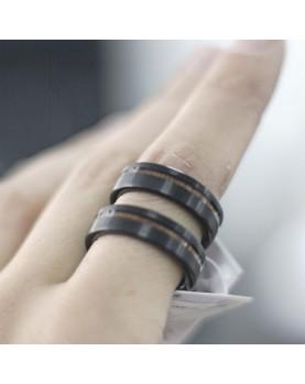 Парные кольца из вольфрама с деревянной вставкой Spikes R-TU-7061 Фото 2