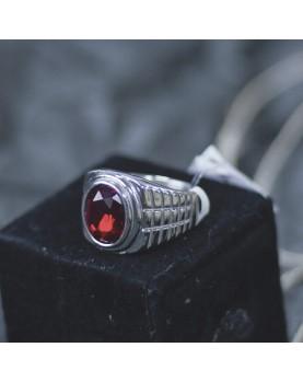 Перстень с красным камнем Respect Steel RSS7043 Фото 1