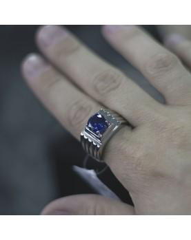Перстень с синим камнем Respect Steel RSS7044 Фото 1