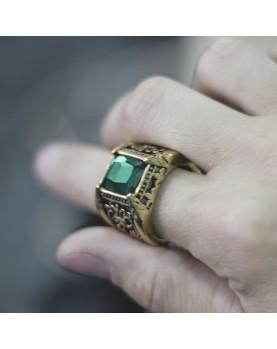 Мужской Перстень с зеленым камнем Respect Steel RSS7047 Фото 1