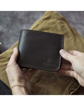 Мужской кожаный бумажник DARTON MR. BIFOLD Deep Brown фото 1