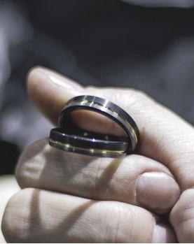 Парные кольца из вольфрама Spikes R-TU-7068 Фото 1