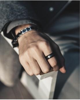 Мужское кольцо из вольфрама R-TU-7062 Фото 1