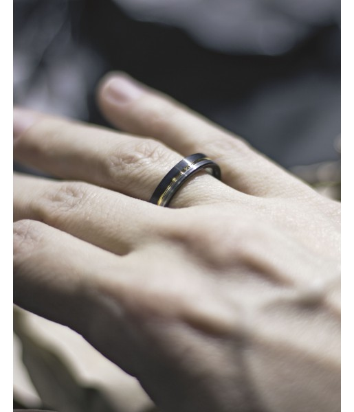Трехцветное кольцо из вольфрама Spikes R-TU-7068M Фото 1