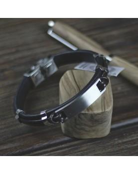 Кожаный браслет под гравировку MR.SMITH № MS-6022-BRN  фото 4