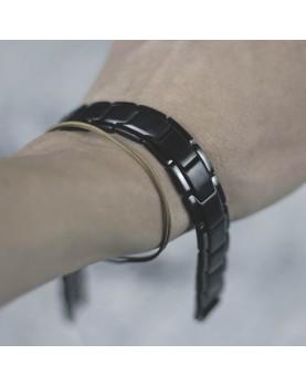 Черный матовый мужской браслет MR.SMITH MS-1107-ST купить в Алматы