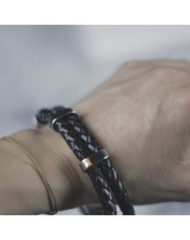 Мужской браслет из кожи в Алматы MR.SMITH MS-015-BLS