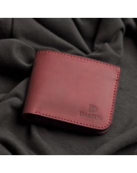 Красный кожаный бумажник DARTON MR. BIFOLD Deep Red