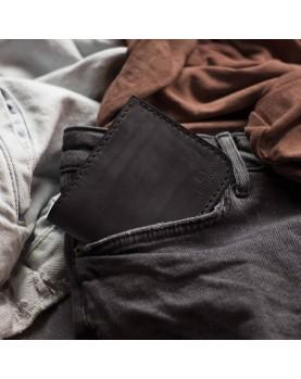 Мужской кожаный бумажник темно-серый DARTON MR. BIFOLD