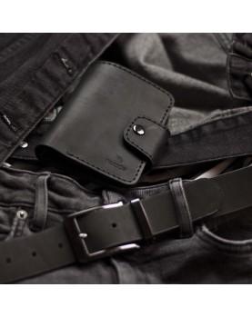 Мужское кожаное портмоне и ремень в наборе SMART Light Фото 3