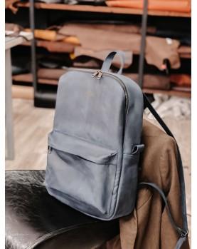 Синий кожаный рюкзак DARTON WALKER Navy