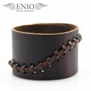 Кожаный браслет Spikes NL-0010-BRN фото 1