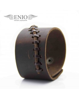 Кожаный браслет Spikes NL-0010-BRN фото 3
