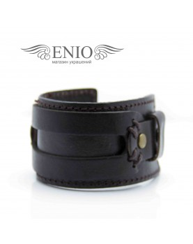 Кожаный браслет Spikes NL-011-BRN фото 2